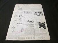 Vintage 1930s Ephemera Wade Sketch Paper Signs Graph Paper Compass