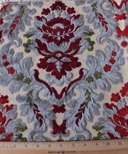 French Vintage Cotton Cut Velvet Manufacturer's Sample Fabric c1940~Frame Layout