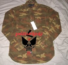 French connection FCUK miltary m65 button zipper shirt jacket M camo