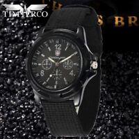 Montre Militaire Armée Suisse SWISS ARMY Sport  Homme Bracelet  Tissus Noir