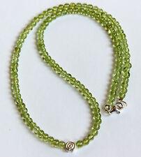 Peridot chain,precious stone Necklace,Olivine,Green,45cm,Necklace,Peridot,