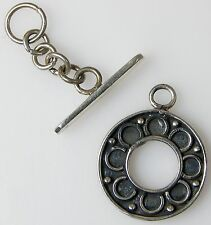 Sterling Silver 3 g BALI TOGGLE CLASP for Making JEWELRY Necklace 17 mm x 17 mm