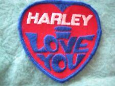 "Vintage Harley Davidson Motorcycle I love You Patch 3 1/4"" X 3 1/8"""