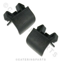 GENUINE PARTS - 00322 DUALIT TOASTER CRUMB TRAY PLASTIC PULL HANDLES 2 PACK
