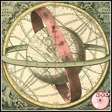 Celestial Sky ATLASES - Astronomy - Flamsteed - Cellarius - old sky maps - DVD