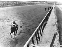 SECRETARIAT GREAT 8X10 HORSE RACING PHOTO OF 31 LENGTH BELMONT STAKES WIN!
