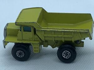 Vintage Matchbox Superfast Mack Dump Truck No. 28 Cast Steps Yellow 1970 Vehicle
