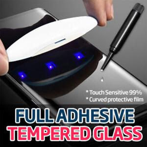 Full Glue UV Liquid Tempered Glass Screen Protector Samsung S20 +S10 S21 ULTRA +