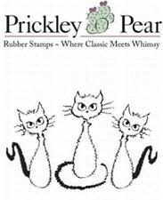 New PRICKLEY PEAR RUBBER STAMP  HALLOWEEN FRAIDY CATS CLING FREE US SHIP