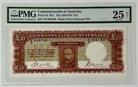 AUSTRALIA 10 POUNDS P24 1934-36 RIDDLE SHEEHAN PMG25 VERY FINE / VERY RARE