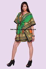 Dashiki African Poncho Tribal Long Shirt Maxi Kaftan 100 Cotton Bright Colors