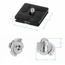 "Selens Camera Quick Release QR Plate 40mm & 1/4"" Screw for Tripod Gitzo Beno RRS"