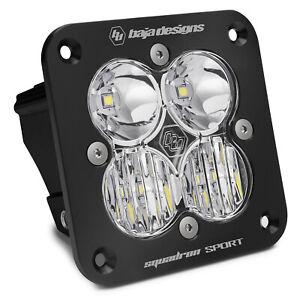 Baja Designs Squadron Sport Driving/Combo Flush Mount Black LED Light Pod