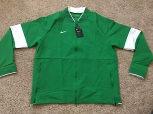 $135 Men's Nike Therma Dri Fit Midweight Full Zip Football Apple Green Jacket