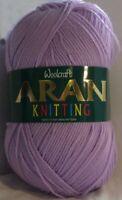 400g Woolcraft 100% Acrylic Aran Yarn - Lilac