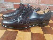 Vintage Barrington Mens Leather Wingtip Oxford 8.5D Dark Burgundy Style 74543