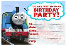 1 X Thomas The Tank Engine Blank DIY Birthday Invitations Magnets