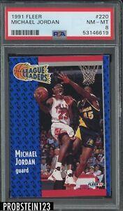 1991 Fleer #220 Michael Jordan Chicago Bulls HOF PSA 8 NM-MT