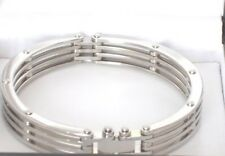 ISBN-RS-BNON-08-00 Men Walled & Bolted Silver Bracelet.  £48.00