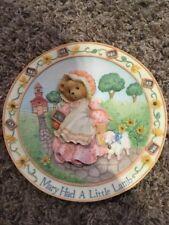 cherished teddies Mary Had A Little Lamb Nursery Rhyme Plate #128902