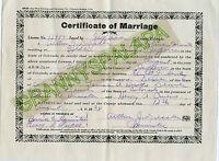 1924 Marriage Certificate - Jefferson County Colorado - HEWITT / Ernest Sa???