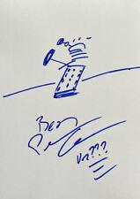 More details for peter capaldi doctor who 'dalek' sketch doodle 10x8 art drawing signed