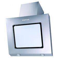 PKM 9031W Campana extractora 60cm Vidrio blanco sin cabezal acero inox. oblicua