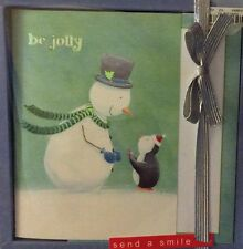Snowman & Penguins  Box of 16 Be Jolly Snowman Christmas Cards Greeting Cards