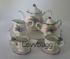 """Lovvbugg Happy Tea Set for 18"""" American Girl Doll Accessory YOU FOUND THE PLACE!"""