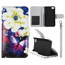 For Iphone 4 4S Wallet Creamy Flower Cover Split Leather Case Uni