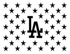 "LA Los Angeles Dodgers Flag Star 11"" x 8.5"" Custom Stencil FAST FREE SHIPPING"