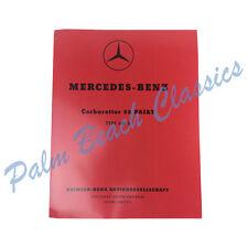 Mercedes Benz W186 300 Adenauer Solex Carburetor Manual