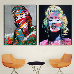 Marilyn Oil Painting Famous Actress Portrait Canvas Painting Wall Art Pictures