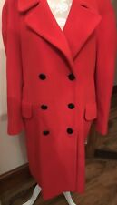 ESCADA by Margaretha Ley  RED CASHMERE LONG DUSTER COAT JACKET  L 14 16 rrp £749