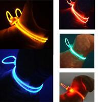 Adjustable LED Dog Cat Collar,Night Safety Flashing Glow In The Dark Dogs Leash