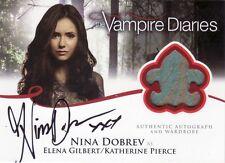 Vampire Diaries Season 2 Nina Dobrev as Elena Gilbert A1 Auto Costume Card