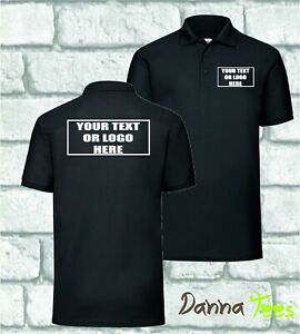 Custom Printed Polo Shirt Personalised *Events *Stag Do *Business Text * Logo