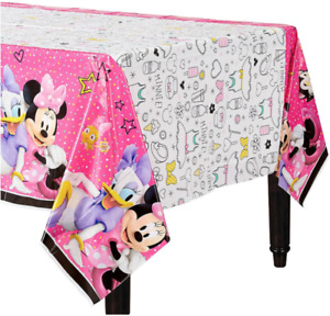 Minnie Mouse Plastic TableCover Birthday Party Decoration Supplies Happy Helpers