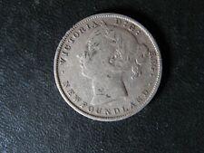 20 cents 1896 Small 96 Newfoundland Canada Queen Victoria c ¢ NFLD VG-10