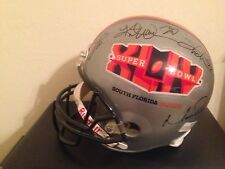Autographed Super Bowl XLIV Helmet - Kurt Warner, Emmit Smith, Matt Ryan & more
