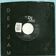"L. L. COOL J ~ I NEED LOVE b/w MY RHYME AIN'T DONE,ORIGINAL Def Jam7"" ~ 1987, EX"