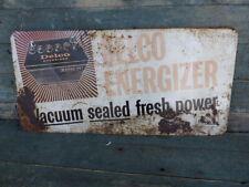 antique delco energizer battery tin sign
