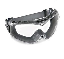 ( 2 )Uvex Stealth Gray Body Clear XTR Safety Goggles, Anti-Fog, Neoprene #S3960C