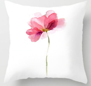 Pillow Case White Pillow Case Flower Color Pink Pattern Decorative Home Sofa Car