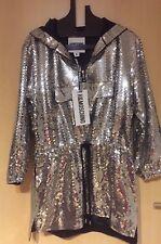 Moschino H&M H&MOSCHINO Kleid Pailletten Silber dress silver sequin Gr. Size S
