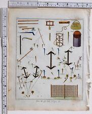 1779 Antico britannico sportivo stampa Bird RETI & trappole Piviere fischio REEL