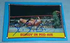 King Kong Bundy Signed 1987 Topps WWF WWE Trading Card Pro Wrestling Autograph