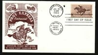 1960 Pony Express Sc 1154-33 first cachet St Joseph Stamp Collectors Club