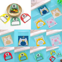 100pcs Cute Cartoon Bakery Cookie  Candy Bags Self-Adhesive OPP Plastic Bag