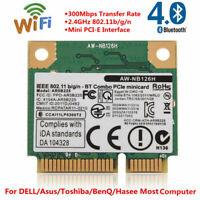 For DELL Asus Bluetooth 4.0 WiFi 300Mbps Wireless Network Mini PCI-E Card Lot LJ